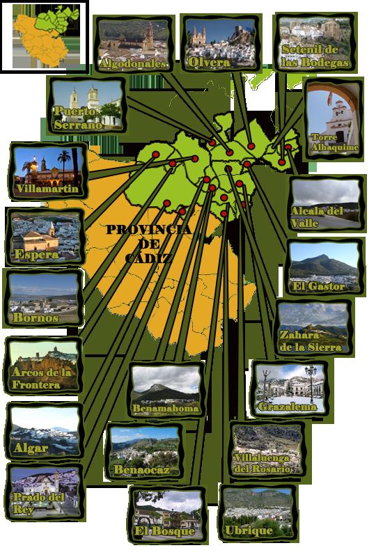 mapa sierra de cadiz