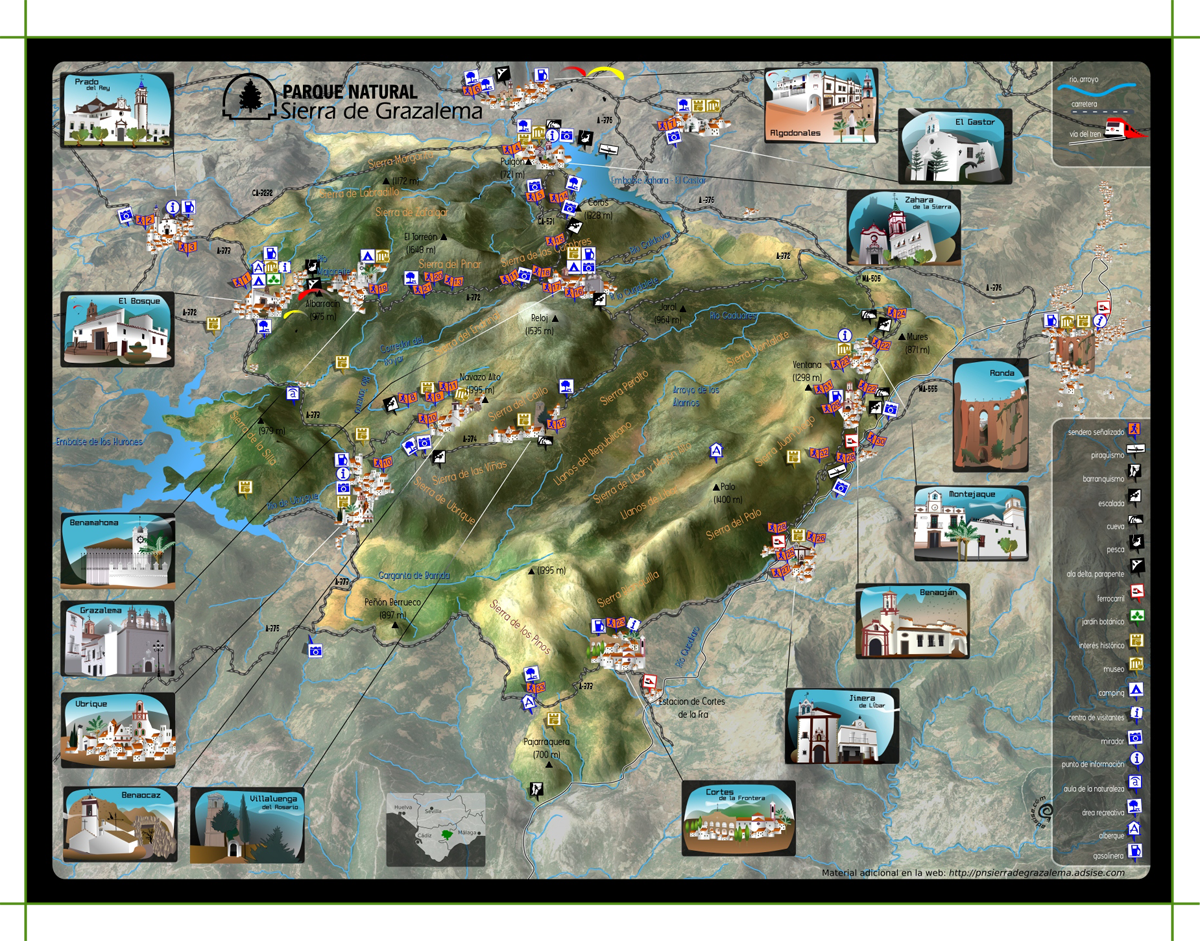 Mapa parque natural sierra de grazalema